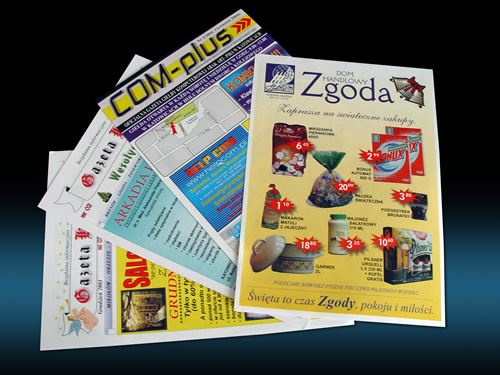 gazetki reklamowe druk