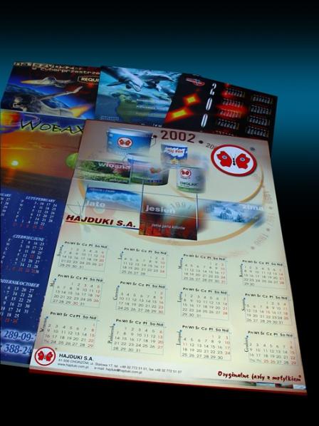 wydruk kalendarzy planszowych