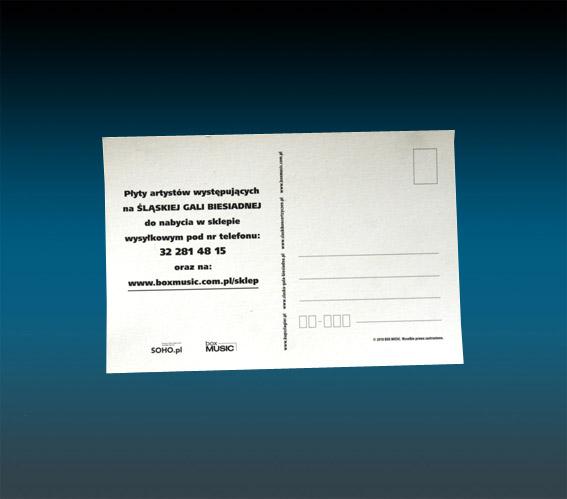 wydruk firmowych pocztówek